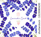 template with lavender and text.... | Shutterstock .eps vector #1323080630