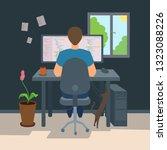 freelancer male programmer... | Shutterstock .eps vector #1323088226
