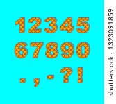 decorative numbers and...   Shutterstock .eps vector #1323091859