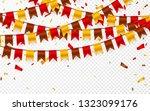 thanksgiving day  flags garland ... | Shutterstock . vector #1323099176