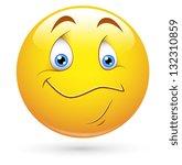 smiley vector illustration  ... | Shutterstock .eps vector #132310859