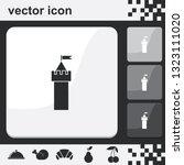 castle tower flat set of... | Shutterstock .eps vector #1323111020
