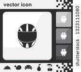 racing helmet flat set of...   Shutterstock .eps vector #1323111080