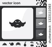 ghost flat set of buttons...   Shutterstock .eps vector #1323111083