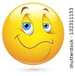 smiley vector illustration  ... | Shutterstock .eps vector #132311153