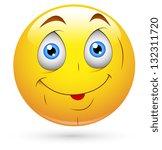 smiley vector illustration  ... | Shutterstock .eps vector #132311720