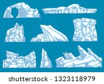 vector ice hummock   iceberg... | Shutterstock .eps vector #1323118979