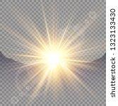 sunrise over the mountains ... | Shutterstock .eps vector #1323133430
