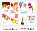 set of restaurant menu ... | Shutterstock .eps vector #1323133463
