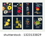 set of restaurant menu ... | Shutterstock .eps vector #1323133829