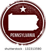 Pennsylvania USA State Stamp