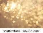 golden yellow vivid bokeh in... | Shutterstock . vector #1323140009