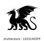 dragon silhouette illustration. ...   Shutterstock .eps vector #1323140399