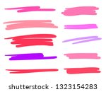 hand drawn abstract underlines... | Shutterstock .eps vector #1323154283