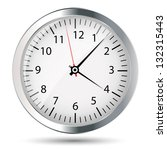 silver watch vector illustration | Shutterstock .eps vector #132315443