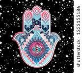 ihamsa print design. aztec... | Shutterstock .eps vector #1323155186