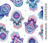 ihamsa print design. aztec... | Shutterstock .eps vector #1323155213