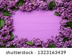 decorative frame of lilac...   Shutterstock . vector #1323163439