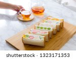 tea time home made fruit... | Shutterstock . vector #1323171353