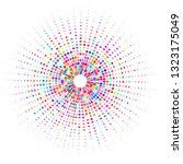 radial pattern of multiple dots ... | Shutterstock .eps vector #1323175049