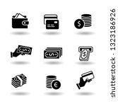 money and payment solid black... | Shutterstock .eps vector #1323186926
