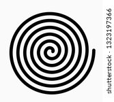 psychedelic figure of a spiral  ... | Shutterstock .eps vector #1323197366