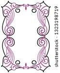 decorative frame. design...   Shutterstock . vector #1323198719