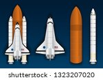 spacecraft and parts graphic...   Shutterstock .eps vector #1323207020