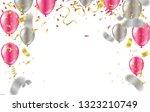 happy confetti helium balloon... | Shutterstock .eps vector #1323210749
