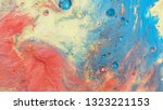 colorful sparkling paints mix... | Shutterstock . vector #1323221153