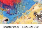 colorful sparkling paints mix... | Shutterstock . vector #1323221210
