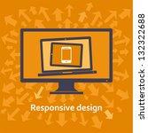 responsive web design on... | Shutterstock .eps vector #132322688