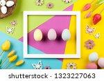 happy easter background | Shutterstock . vector #1323227063