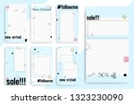 set of 7 bright editable... | Shutterstock .eps vector #1323230090