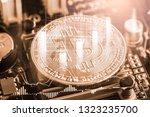 modern way of exchange. bitcoin ... | Shutterstock . vector #1323235700