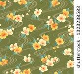 japanese style cherry blossom... | Shutterstock .eps vector #1323238583