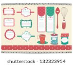retro and sweet recipe tags | Shutterstock .eps vector #132323954