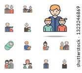 father with children cartoon...   Shutterstock .eps vector #1323246869