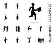 businesswoman  run icon....   Shutterstock .eps vector #1323249110