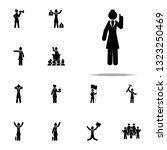 businesswoman  explain icon.... | Shutterstock .eps vector #1323250469