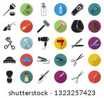 hairdresser and tools black... | Shutterstock .eps vector #1323257423