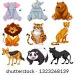 set of cartoon animals...   Shutterstock .eps vector #1323268139