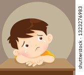 sad alone child wants to... | Shutterstock .eps vector #1323276983