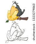 vector illustration of a cute...   Shutterstock .eps vector #1323279863