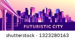 vector illustration  night city ... | Shutterstock .eps vector #1323280163