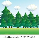 Illustration Of A Pine Tree...