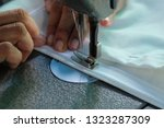 sewing machine close up  ... | Shutterstock . vector #1323287309