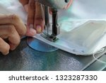 sewing machine close up  ... | Shutterstock . vector #1323287330