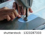sewing machine close up  ... | Shutterstock . vector #1323287333