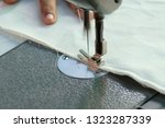 sewing machine close up  ... | Shutterstock . vector #1323287339